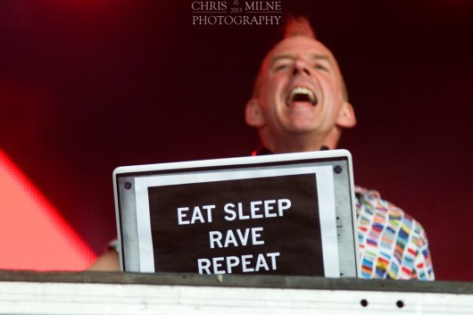 Fatboy Slim headlined the first festival and managed three further appearances at the event.