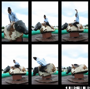 """My own personal favourite was the bucking bronco challenge. """