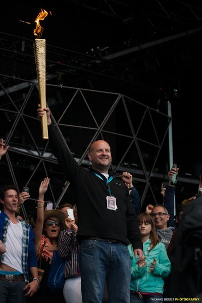 The Olympic Flame made it's way to the Festival in 2012