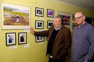 MSP John Finney, being shown round the Inverness Gigs photography exhibition earlier this year, will be part of the panel discussing independence.