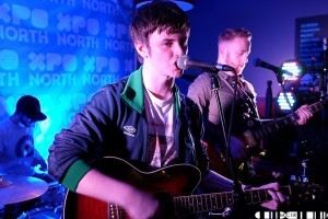 Declan Welsh with band at XpoNorth 15