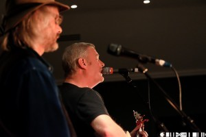 Jim Kennedy & Ali Bodhran admirably stepped in at the last minute to open the acoustic stage