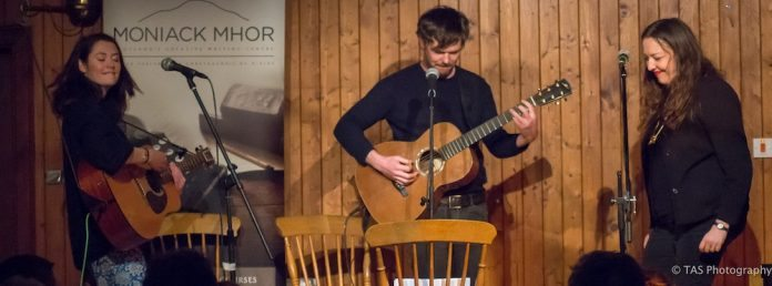Kathryn Williams, Roddy Woomble and Rachel Sermanni 23:2:17, at Abriachan Village Hall