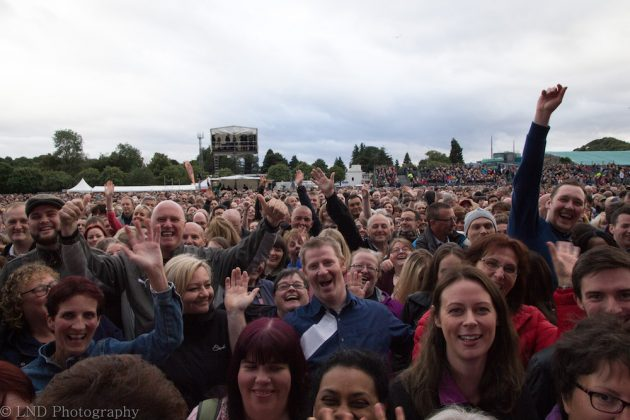 Crowd shot at Bryan Adams, Inverness on the 16th of July 2017