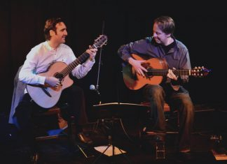 Guitar Journey Duet, aka Giorgio Serci Jonny Phillips play Eden Court, Inverness on the 8th of May, 2018.