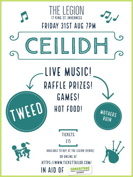 Ceilidh Poster 1 with pics 450x600 - Alex Lleo for Highland gigs