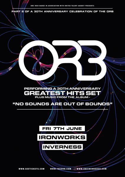 Web Poster 424x600 - The Orb for Ironworks gig
