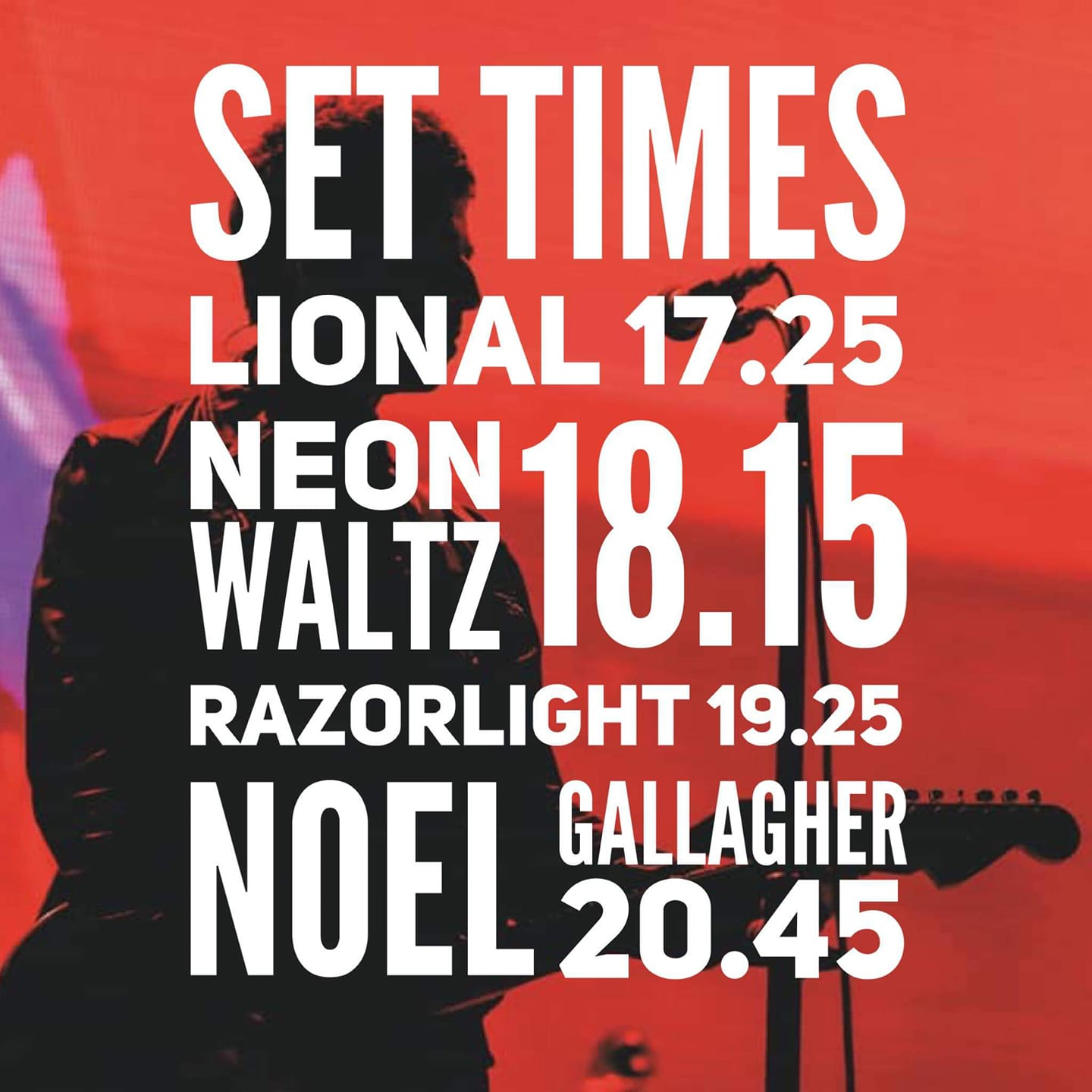 Set Times Noel Gallagher Inverness - Noel Gallagher's High Flying Birds in Inverness - Info