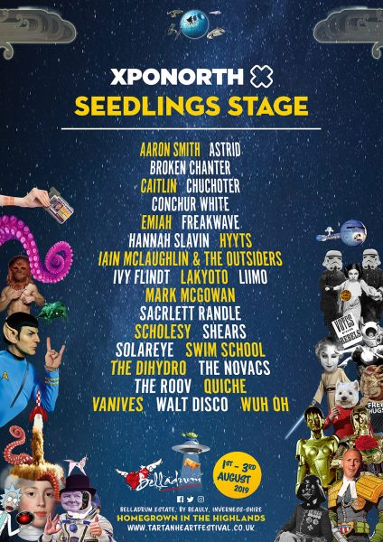Seedlings 2019 424x600 - XpoNorth Seedlings Stage line-up announced  for Belladrum 2019