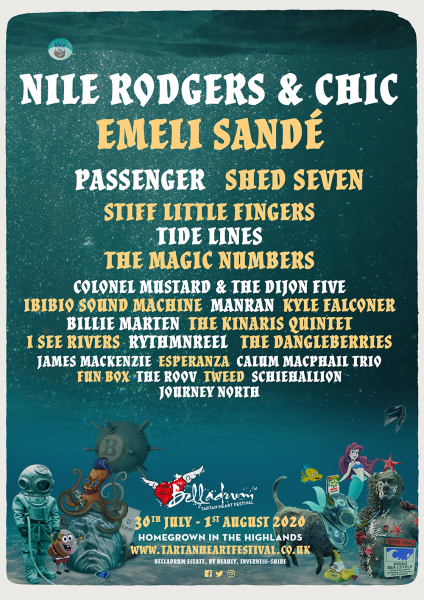 bella 2020 1 424x600 - Nile Rodgers, Emeli Sandé, Shed Seven and more announced for Belladrum 2020.