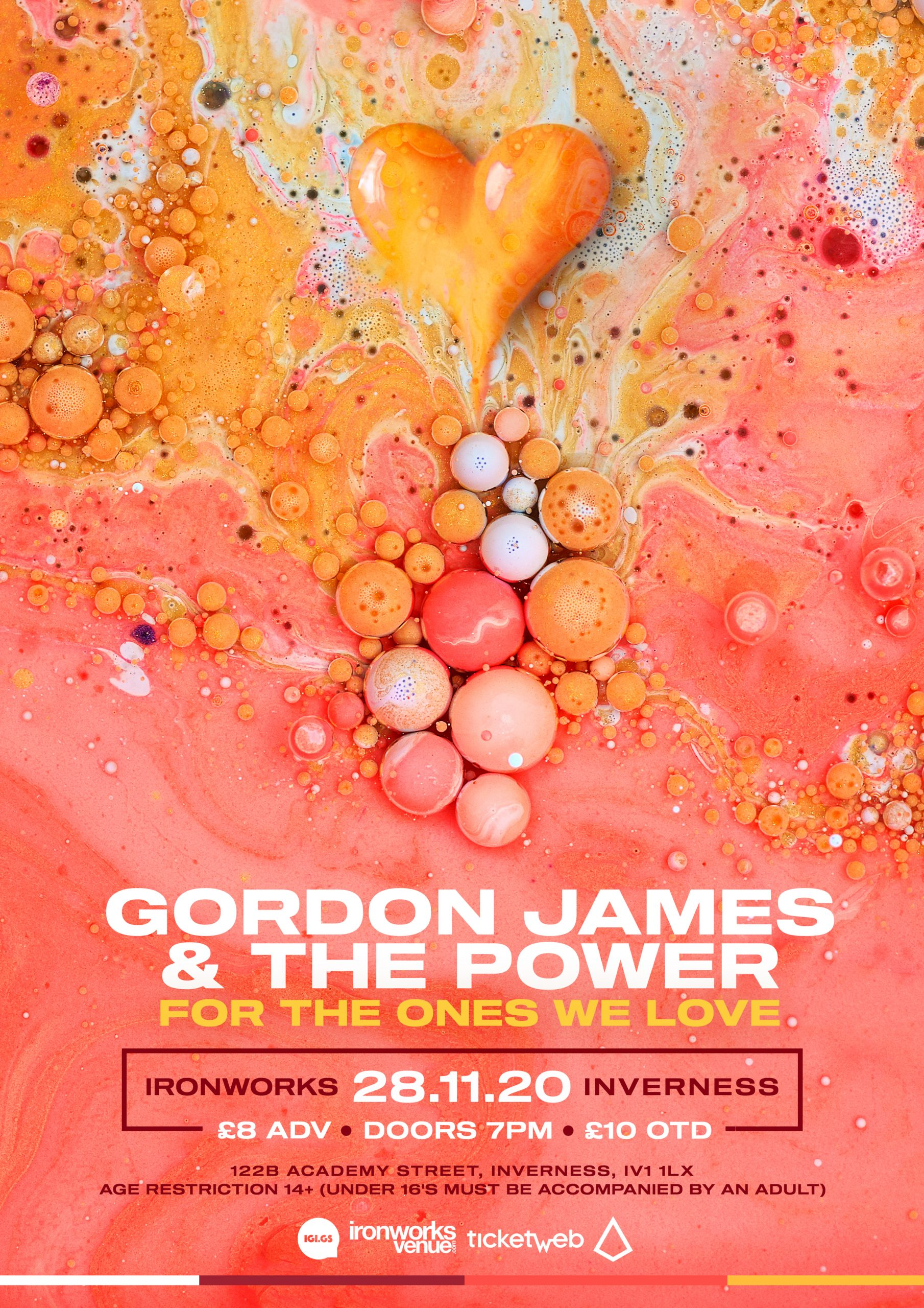 MAIN POSTER scaled - Gordon James and The Power Announce New Single
